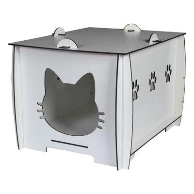 Markamama Beyaz Kedi Evi