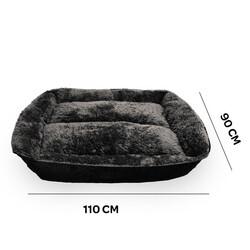 Markamama Peluş Tüylü Köpek Yatağı XL 115x90 CM - Thumbnail
