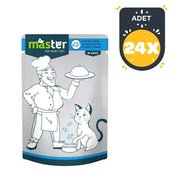 Master Balıklı Pouch Kedi Konserve Maması 80 Gr x 24 lü