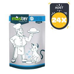 Master - Master Balıklı Pouch Kedi Konserve Maması 80 Gr x 24 lü