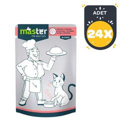 Master - Master Dana Etli Pouch Kedi Konserve Maması 80 Gr x 24 lü