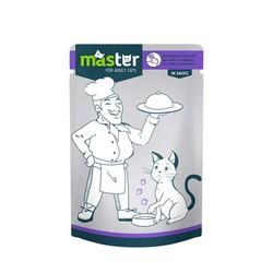 Master - Master Tavşan Etli Pouch Kedi Konserve Maması 80 Gr