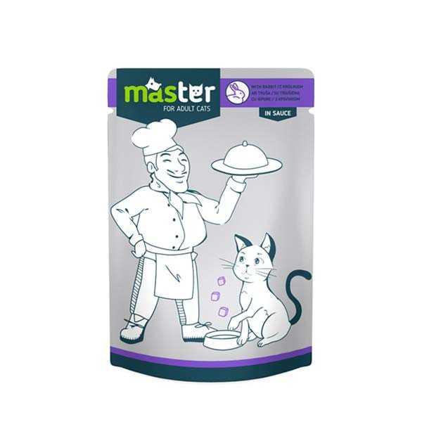 Master Tavşan Etli Pouch Kedi Konserve Maması 80 Gr x 24 lü