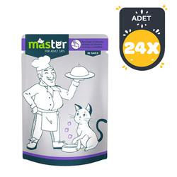 Master - Master Tavşan Etli Pouch Kedi Konserve Maması 80 Gr x 24 lü