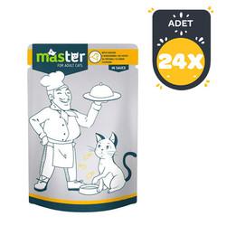 Master - Master Tavuk Etli Pouch Kedi Konserve Maması 80 Gr x 24 lü