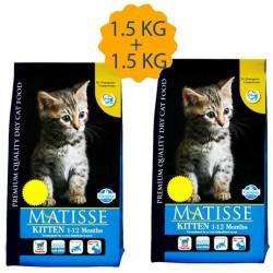 Matisse - Matisse Yavru Kedi Maması 1,5 KG + 1.5 KG