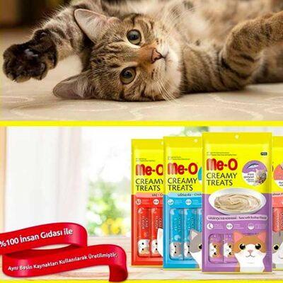 Me-O Mavi Yüzgeçli Orkinos Sıvı Kedi Ödül Maması 4*15 Gr