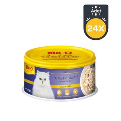 Me-O Sos İçinde Ton Balıklı Tahılsız Kedi Konservesi 80 GR x 24 Adet