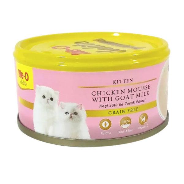 Me-O Tahılsız Kıyılmış Tavuklu ve Keçi Sütlü Yavru Kedi Konservesi 80 GR