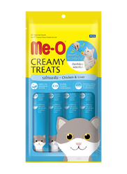 Me-O - Me-O Tahılsız Tavuk Ve Ciğerli Kremalı Kedi Ödülü 4 x 15 GR