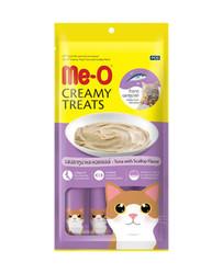 Me-O - Me-O Tahılsız Ton Balığı Ve Deniz Tarağı Kremalı Kedi Ödülü 4 x 15 GR