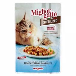 Miglior - Miglior Balık Ve Karidesli Kısırlaştırılmış Kedi Yaş Maması 85 GR