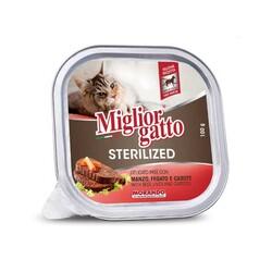 Miglior - Miglior Biftek Ciğer Ve Havuçlu Kısırlaştırılmış Kedi Yaş Maması 85 GR