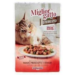 Miglior - Miglior Biftek Jambon Ve Sebzeli Kısırlaştırılmış Kedi Yaş Maması 85 GR