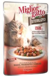 Miglior - Miglior Biftek ve Sebzeli Kısırlaştırılmış Yaş Kedi Maması 85 GR
