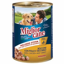 Miglior - Miglior Cane Tavuklu & Hindili Katkısız Köpek Konservesi 405 GR