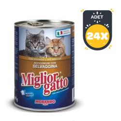 Miglior - Miglior Gatto Av Hayvanlı Kedi Konservesi 405 GR ( 24 AL 20 ÖDE )
