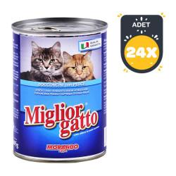 Miglior - Miglior Gatto Balıklı Kedi Konservesi 405 GR ( 24 AL 20 ÖDE )