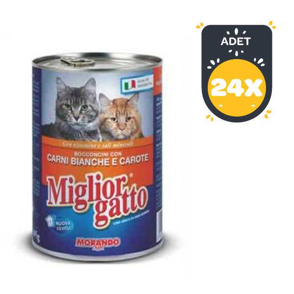Miglior Kümes Hayvanlı ve Havuçlu Kedi Konservesi 405 GR*24 ADET