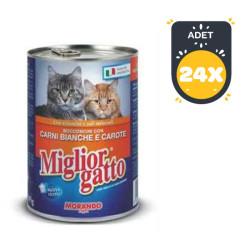 Miglior - Miglior Kümes Hayvanlı ve Havuçlu Kedi Konservesi 405 GR*24 ADET