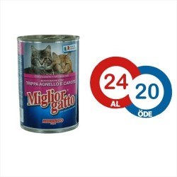 Miglior - Miglior Kuzu ve İşkembeli Kedi Konservesi 405 GR * 24 ADET