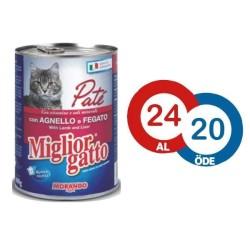 Miglior - Miglior Gatto Kuzulu ve Ciğerli PATE Kedi Konservesi 400 GR - 24 AL 20 ÖDE