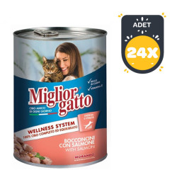 Miglior - Miglior Gatto Somon Balıklı Kedi Konservesi 405 GR - 24 AL 20 ÖDE