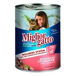 Miglior - Miglior Gatto Somon Balıklı Kedi Konservesi 405 GR