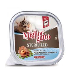 Miglior - Miglior Gatto Sterilized Balık Ve Karidesli Kısırlaştırılmış Kedi Konservesi 100 GR