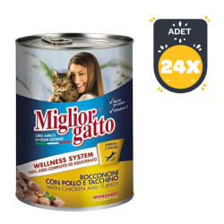 Miglior - Miglior Gatto Tavuk-Hindi Kedi Konservesi 405 GR (24 AL 20 ÖDE)