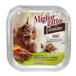 Miglior Gatto Tavuk Kuzu Ve Sebzeli Kısırlaştırılmış Kedi Konservesi 100 Gr - Thumbnail