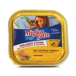 Miglior - Miglior Gatto Tavuk Ve Tavşanlı Kedi Konservesi 100 Gr