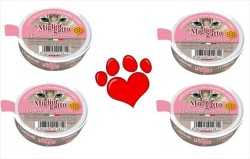 Miglior - Miglior Propolis Katkılı Somon ve Pirinçli Kedi Konservesi Pate 85 GR *4 Adet