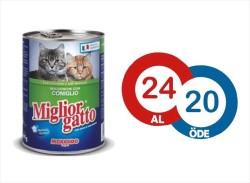 Miglior - Miglior Tavşanlı Kedi Konservesi 405 GR ( 24 AL 20 ÖDE )