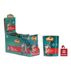 Mitonne - Mitonne Kedi Sığır Etli Tavuklu Yaş Mama 100gr 15'li Paket