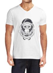 Mod - Mod Monkey Beyaz Erkek Tişört