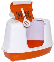 Flip - Moderna Flip Köşeli Filtreli Kapalı Kedi Tuvaleti