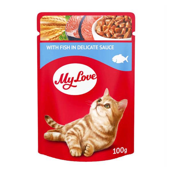 My Love Balıklı Soslu Yaş Kedi Maması 100 GR