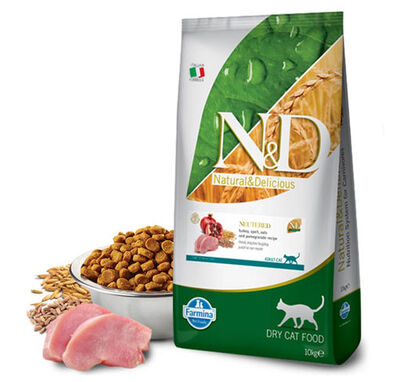 N&D Düşük Tahıllı Hindili Kısırlaştırılmış Kedi Maması 10 KG
