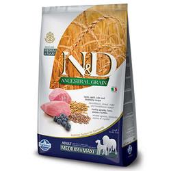 Farmina N&D - ND Düşük Tahıllı Orta ve Büyük Irk Kuzu Etli ve Yaban Mersinli Köpek Maması 12 KG