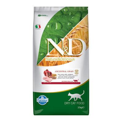 ND Düşük Tahıllı Tavuklu ve Narlı Kısırlaştırılmış Kedi Maması 10 KG
