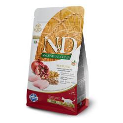 Farmina N&D - ND Düşük Tahıllı Tavuklu ve Narlı Kısırlaştırılmış Kedi Maması 1,5 KG