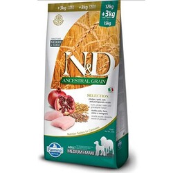 Farmina N&D - N&D Düşük Tahıllı Tavuklu Orta ve Büyük Irk Köpek Maması 12+3 Kg