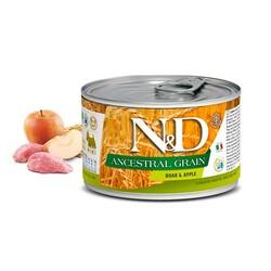 Farmina N&D - N&D Mini Düşük Tahıllı Domuzlu Elmalı Köpek Konserve Maması 140 Gr