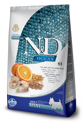 ND Düşük Tahıllı Ocean Balıklı Küçük Irk Köpek Maması 2,5 KG
