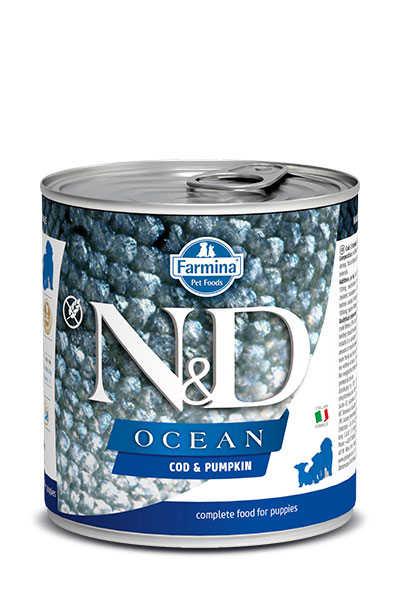 ND Tahılsız Ocean Balkabaklı Morina Balıklı Yavru Köpek Konservesi 285 GR