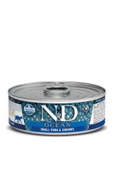 Farmina N&D - ND Tahılsız Ocean Small Ton Balığı Karidesli Kedi Konservesi 80 GR
