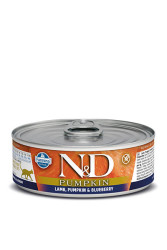 Farmina N&D - ND Tahılsız Balkabaklı Kuzu Etli Yaban Mersinli Kedi Konservesi 80 GR
