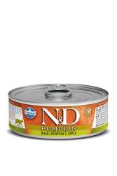 Farmina N&D - ND Tahılsız Balkabaklı Yaban Domuzu Elmalı Kedi Konservesi 80 GR