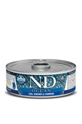 Farmina N&D - ND Tahılsız Ocean Bal Kabaklı M Balıklı Karidesli Kedi Konservesi 80 GR